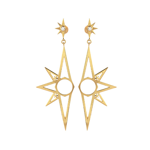 Zoe & Morgan x Walker & Hall Skyward Drop Earrings - Gold Plated - Walker & Hall