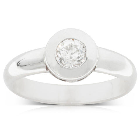 Deja Vu 18ct White Gold .25ct Diamond Solitaire Ring - Walker & Hall