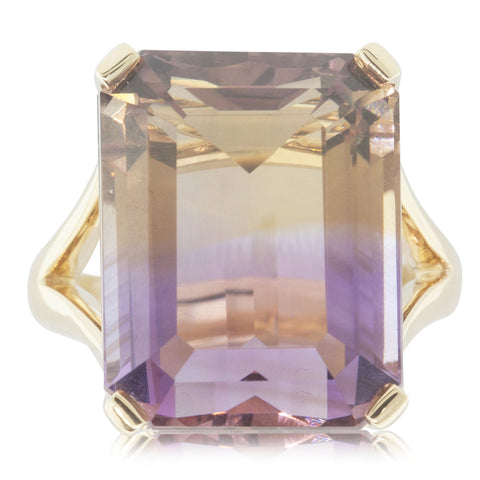 18ct Yellow Gold 20.86ct Ametrine Ring - Walker & Hall