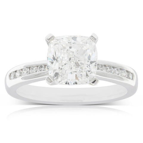 18ct White Gold 2.60ct Diamond Avalon Ring - Walker & Hall