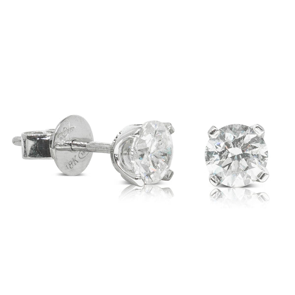 18ct White Gold 1.01ct Diamond Blossom Earrings - Walker & Hall