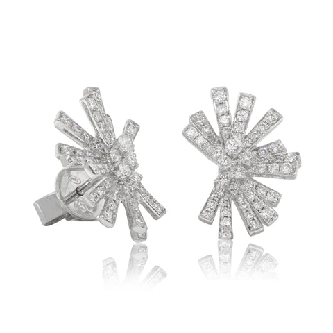 18ct White Gold .67ct Diamond Asteroid Earrings - Walker & Hall