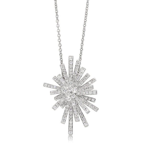 18ct White Gold .70ct Diamond Asteroid Pendant - Walker & Hall