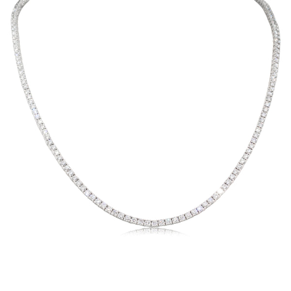 18ct White Gold 8.29ct Diamond Necklace - Walker & Hall
