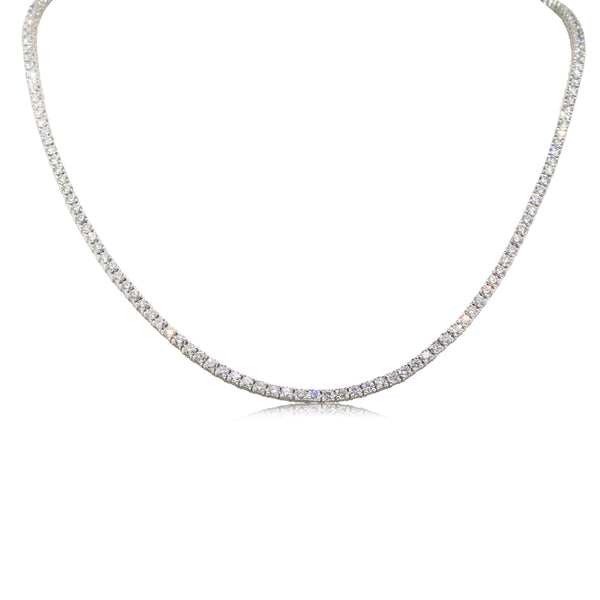 18ct White Gold 8.37ct Diamond Necklace - Walker & Hall