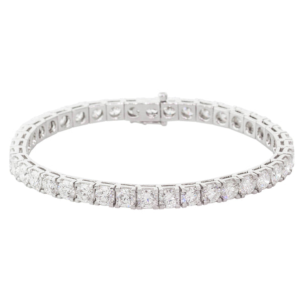 18ct White Gold 12.07ct Diamond Jubilee Bracelet - Walker & Hall