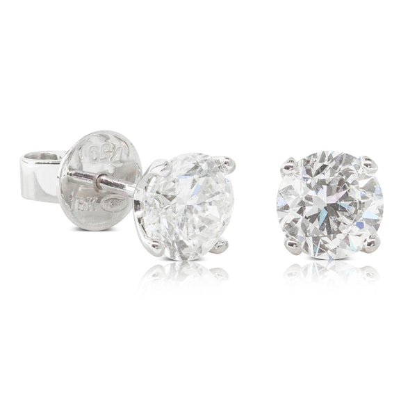 18ct White Gold 2.03ct Diamond Blossom Stud Earrings - Walker & Hall