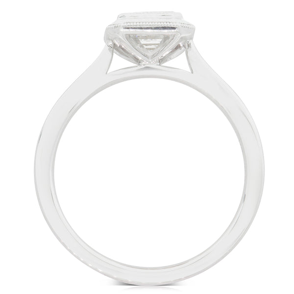 18ct White Gold 1.20ct Diamond Solitaire Ring - Walker & Hall