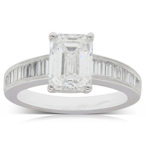18ct White Gold 2.51ct Diamond Ring - Walker & Hall