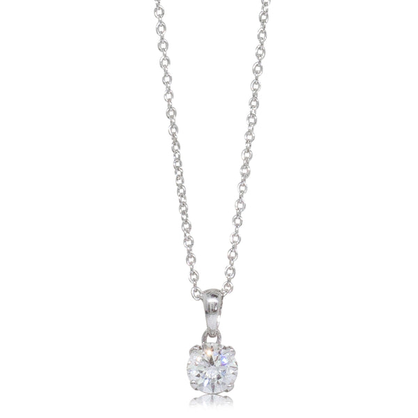 18ct White Gold .53ct Diamond Blossom Pendant - Walker & Hall