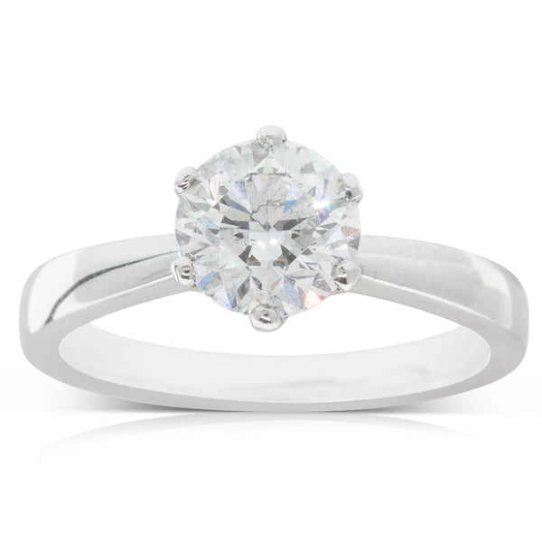 18ct White Gold 1.50ct Diamond Nova Ring - Walker & Hall