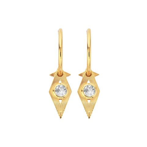Zoe & Morgan Pokhara Earrings - Gold Plated - Walker & Hall