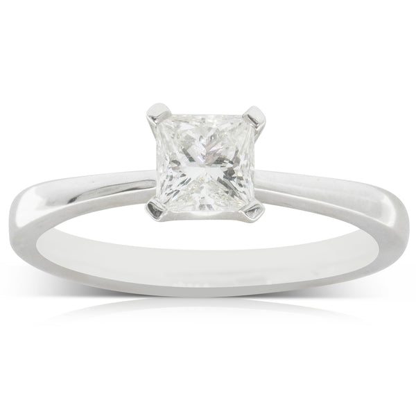 18ct White Gold .64ct Diamond Royale Ring - Walker & Hall