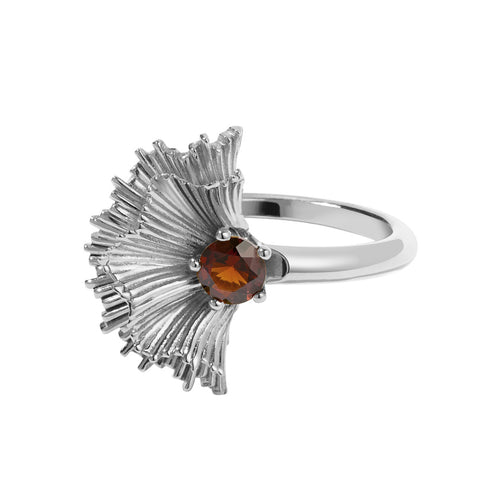 Meadowlark Vita Ring - Sterling Silver & Thai Garnet - Walker & Hall
