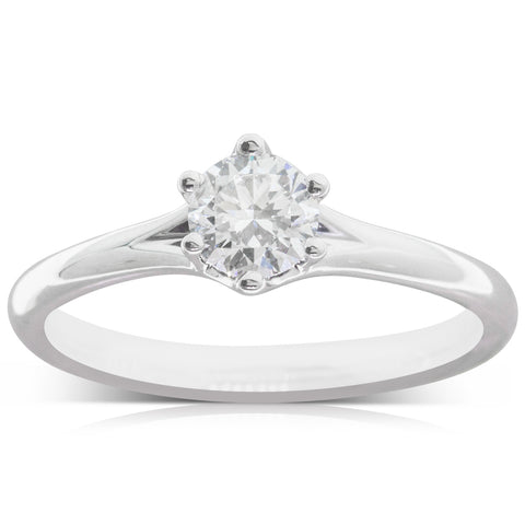 18ct White Gold .46ct Diamond Grace Ring - Walker & Hall