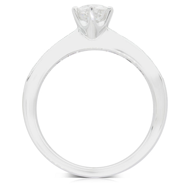 18ct White Gold .56ct Diamond Avalon Ring - Walker & Hall