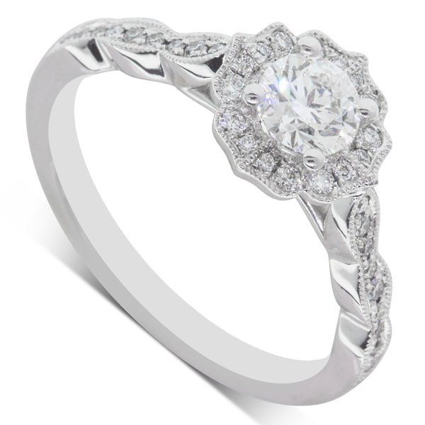 18ct White Gold .40ct Diamond Paramount Ring - Walker & Hall