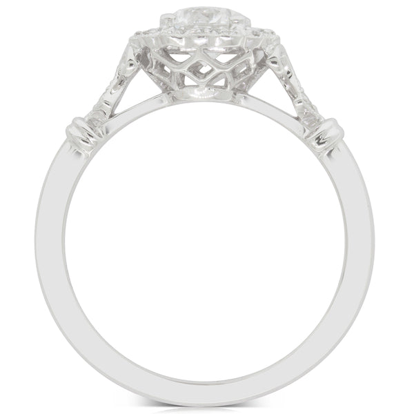 18ct White Gold .70ct Diamond Versaille Ring - Walker & Hall