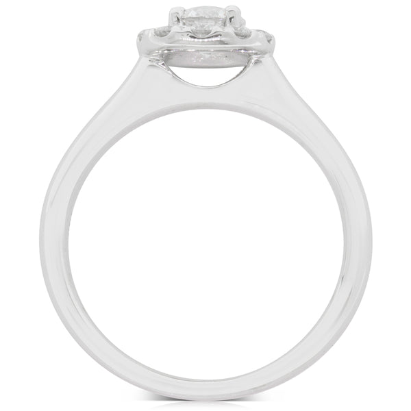 18ct White Gold .40ct Diamond Eclipse Ring - Walker & Hall