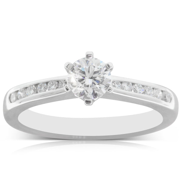 18ct White Gold .50ct Diamond Avalon Ring - Walker & Hall