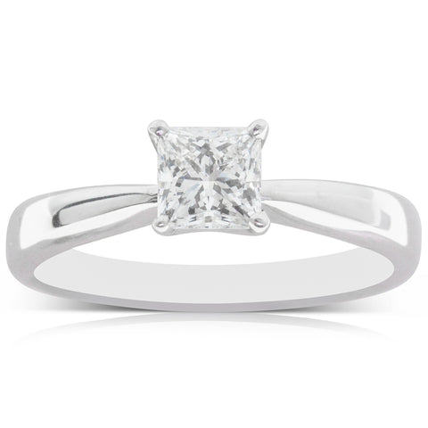 Deja Vu 18ct White Gold .61ct Diamond Solitaire Ring - Walker & Hall