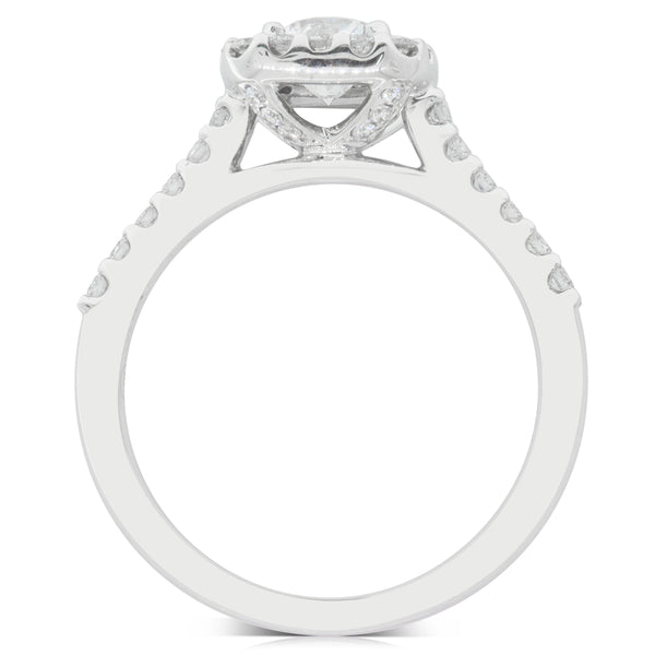 18ct White Gold .60ct Diamond Manhattan Ring - Walker & Hall