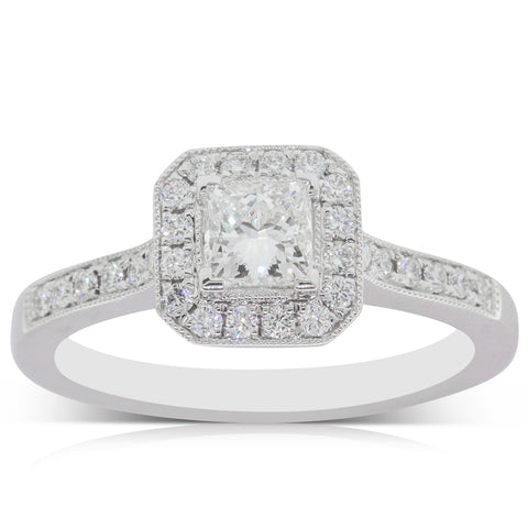 18ct White Gold .51ct Diamond Mandalay Ring - Walker & Hall