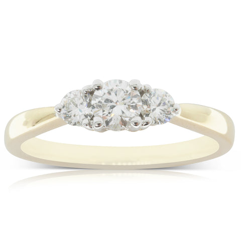 18ct Yellow Gold .30ct Diamond Elysian Ring - Walker & Hall