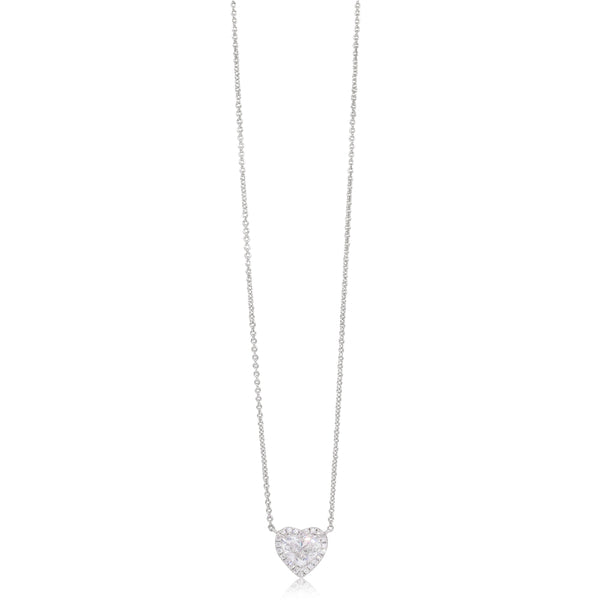 18ct White Gold 1.02ct Diamond Halo Pendant - Walker & Hall