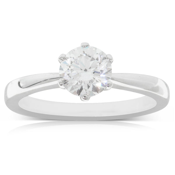 18ct White Gold 1.00ct Diamond Nova Ring - Walker & Hall