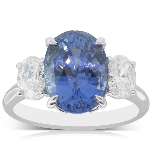 18ct White Gold 5.41ct Sapphire & Diamond Ring - Walker & Hall