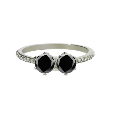 Meadowlark 9ct White Gold 1.00ct Luna Ring - Black Diamond - Walker & Hall