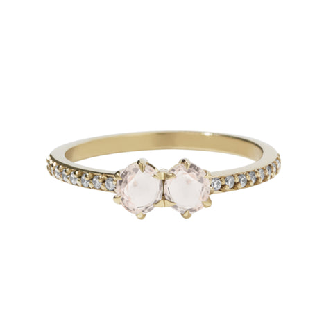 Meadowlark 9ct Yellow Gold .50ct Luna Ring - Morganite - Walker & Hall