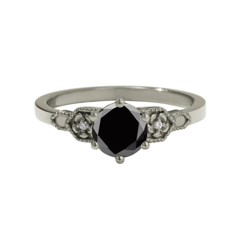 Meadowlark 9ct White Gold .80ct Eternal Ring - Black Diamond - Walker & Hall