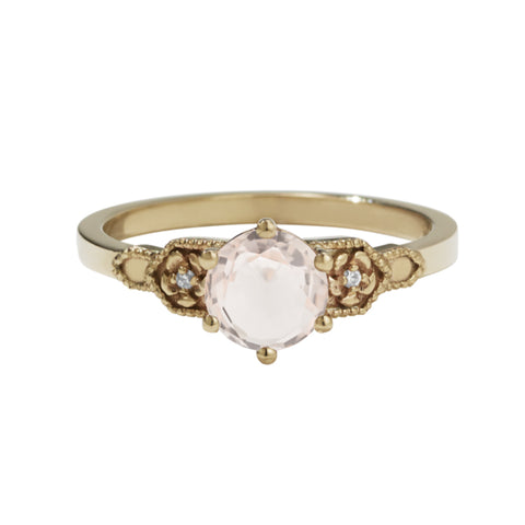 Meadowlark 9ct Yellow Gold .80ct Eternal Ring - Morganite - Walker & Hall