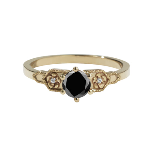 Meadowlark 9ct Yellow Gold .50ct Eternal Ring - Black Diamond - Walker & Hall