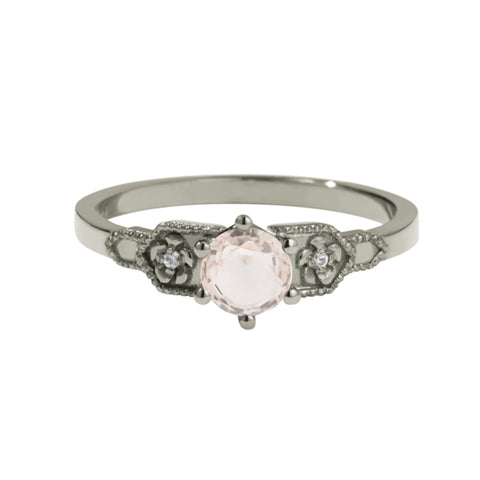 Meadowlark 9ct White Gold .50ct Eternal Ring - Morganite - Walker & Hall