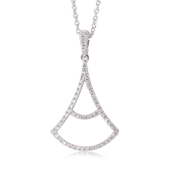 18ct White Gold .20ct Diamond Pendant - Walker & Hall