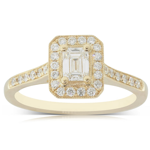 18ct Yellow Gold .40ct Diamond Aria Ring - Walker & Hall