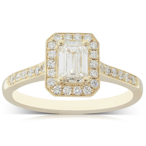 18ct Yellow Gold .66ct Diamond Aria Ring - Walker & Hall