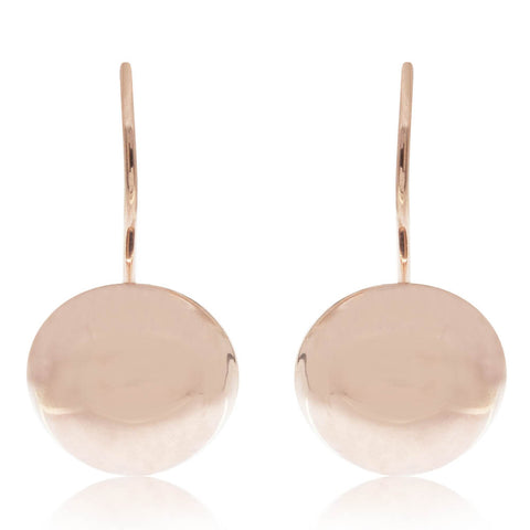 Deja Vu 9ct Rose Gold Dome Earrings - Walker & Hall