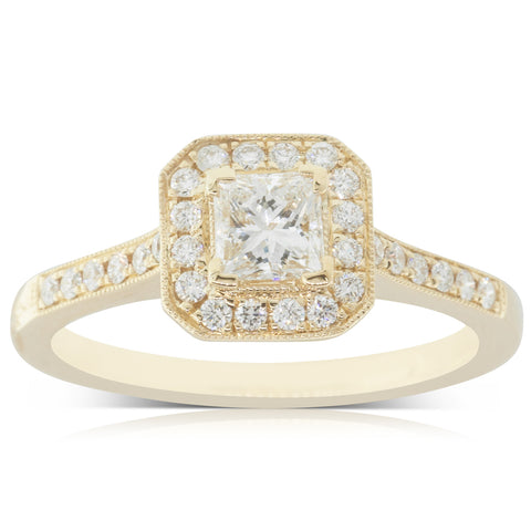 18ct Yellow Gold .42ct Diamond Mandalay Ring - Walker & Hall