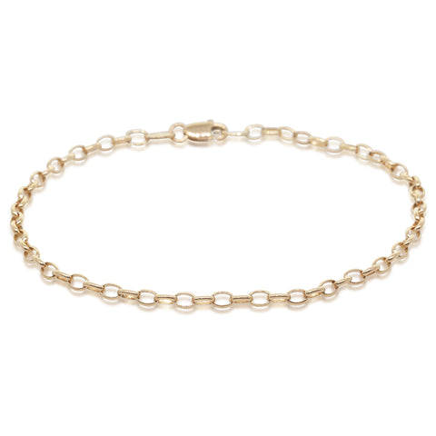Deja Vu 9ct Yellow Gold Oval Belcher Bracelet - Walker & Hall