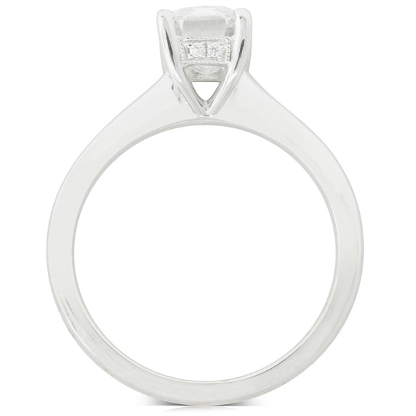 18ct White Gold Diamond Solitaire Ring - Walker & Hall