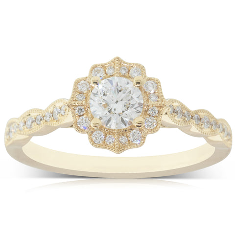 18ct Yellow Gold .40ct Diamond Paramount Ring - Walker & Hall
