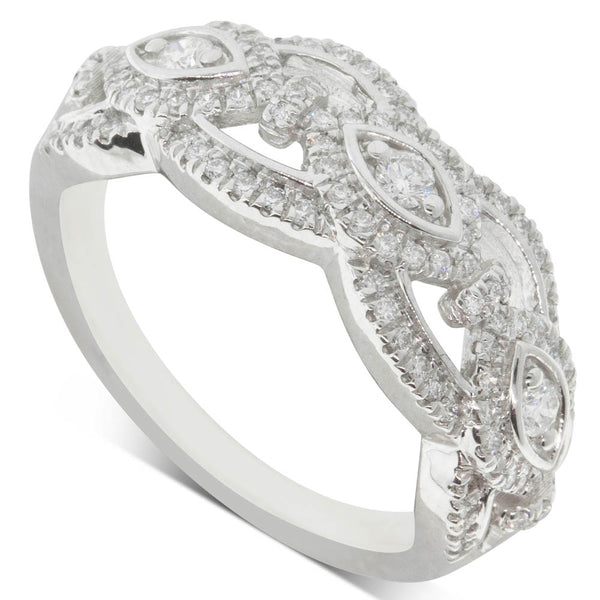 9ct White Gold .50ct Diamond Ring - Walker & Hall