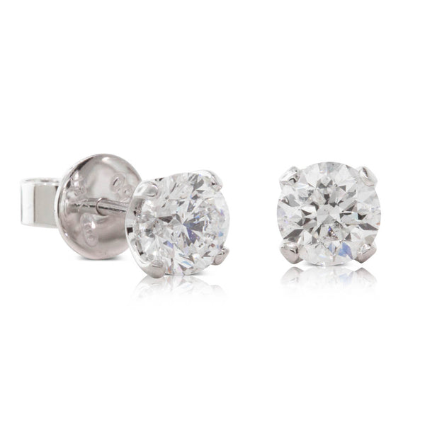18ct White Gold 1.61ct Diamond Blossom Earrings - Walker & Hall