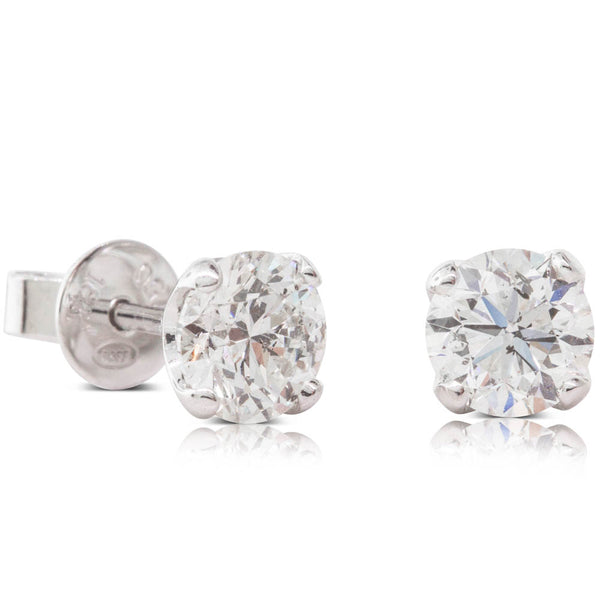 18ct White Gold 1.40ct Diamond Blossom Earrings - Walker & Hall