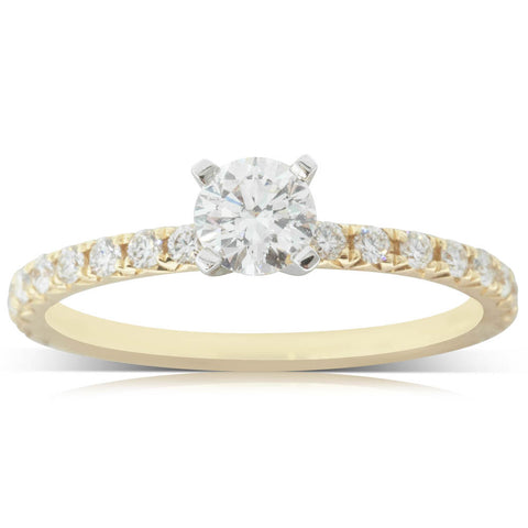 18ct Yellow Gold .40ct Diamond Comet Ring - Walker & Hall