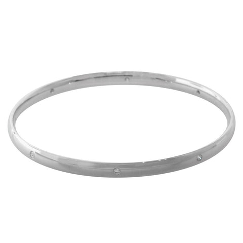 9ct White Gold .28ct Diamond Bangle - Walker & Hall